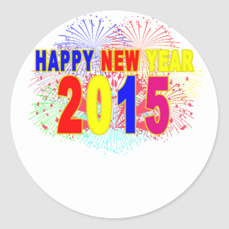 HAPPY NEW YEAR 2015.png Classic Round Sticker