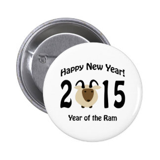 Happy New Year! 2015 Year Of the Ram 2 Inch Round Button