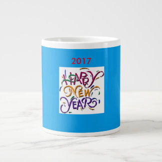 Happy New Year 2017 blue jumbo mug