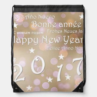 Happy new year 2017 drawstring bag