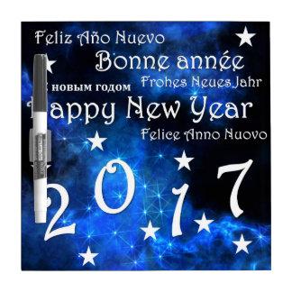 Happy new year 2017 dry erase board