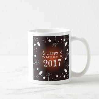 happy new year 2017 fireworks coffee mug