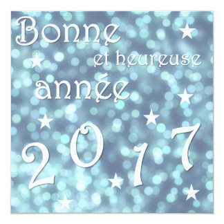 Happy new year 2017, french card
