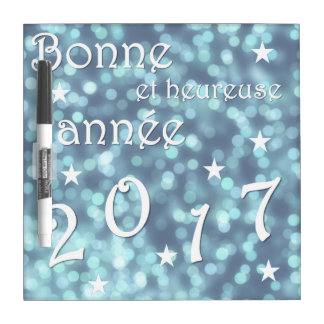Happy new year 2017, french dry erase board