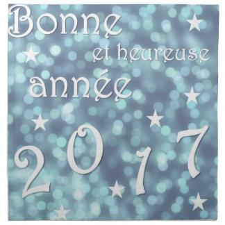 Happy new year 2017, french napkin