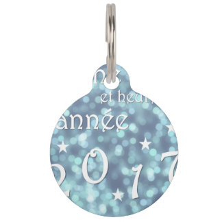 Happy new year 2017, french pet name tag