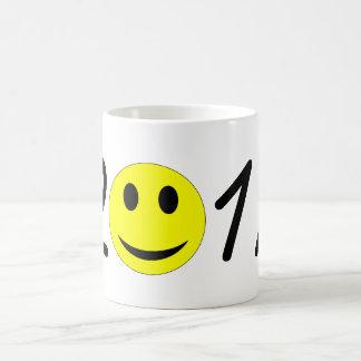 Happy New Year 2017 Funny Happy Smiley Emoticon Coffee Mug