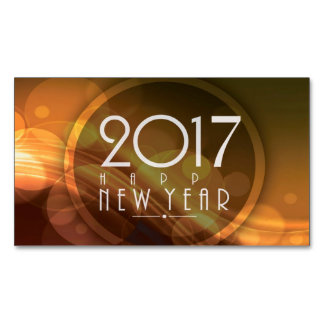 happy new year 2017 magnetic business card