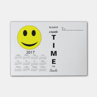 Happy New Year 2017 Motivational Smiley Calendar Post-it Notes