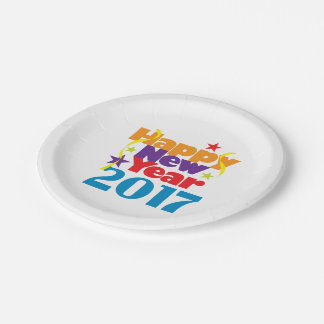 Happy New Year 2017 paper Plates