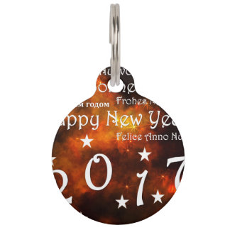 Happy new year 2017 pet name tag