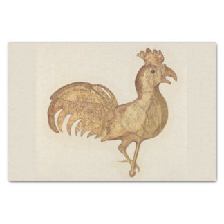 Happy New Year 2017 Rooster Vintage Watercolor Tissue Paper
