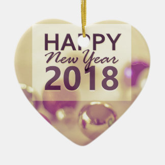 happy new year 2018 ceramic ornament
