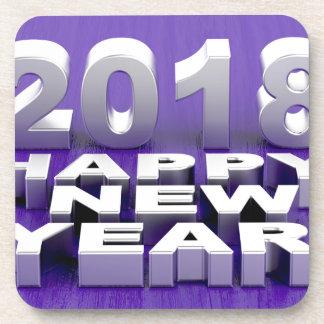 Happy New Year 2018 Coaster