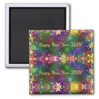 Happy New Year 2018 confetti stars magnet