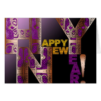 Happy New Year 2018 Decorative Letters Card