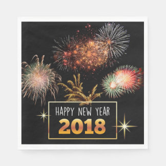 Happy New Year 2018 Disposable Napkins
