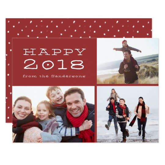 Happy New Year 2018 Family Photo Template