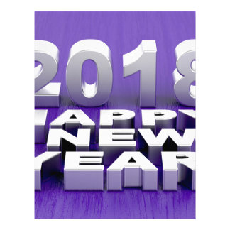 Happy New Year 2018 Letterhead