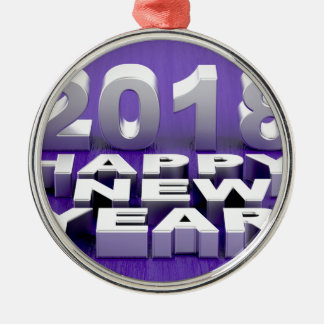 Happy New Year 2018 Metal Ornament
