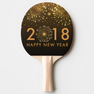 happy new year 2018 ping pong paddle