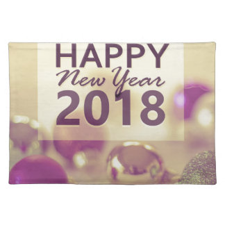 happy new year 2018 placemat