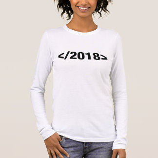 Happy New Year 2018 Programmer Code Long Sleeve T-Shirt