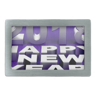 Happy New Year 2018 Rectangular Belt Buckle