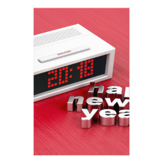 Happy New Year 2018 Stationery
