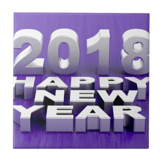 Happy New Year 2018 Tile