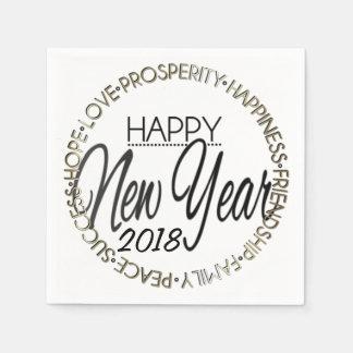 Happy New Year 20XX Disposable Napkins
