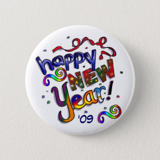 Happy New Year 2 Inch Round Button