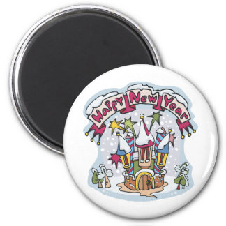 Happy New Year 2 Inch Round Magnet