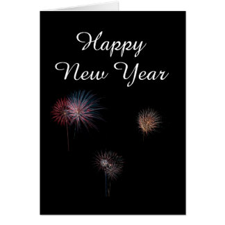 Happy New year 3 fireworks Card