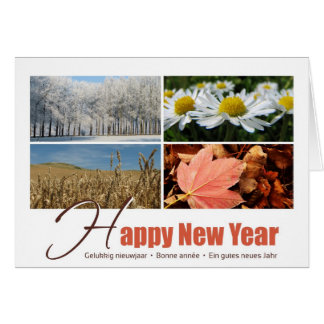 Happy New Year - 4 seasons greeting card