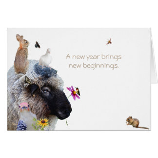 Happy New Year: A new year brings new beginnings. Card