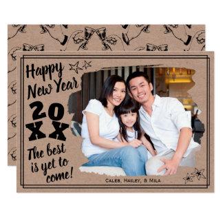Happy New Year Add a Photo | Rough Edge Effect Card