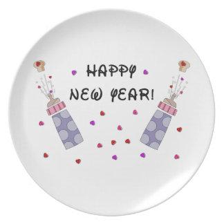Happy New Year Baby Plates