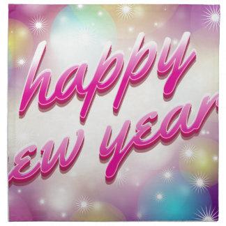 Happy-New-Year Balloons Napkin