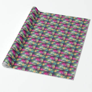 Happy New Year bright fireworks wrapping paper