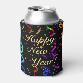 """Happy New Year!"" Can Cooler"