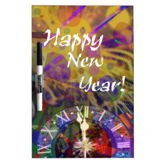 Happy New Year celebration Dry-Erase Boards