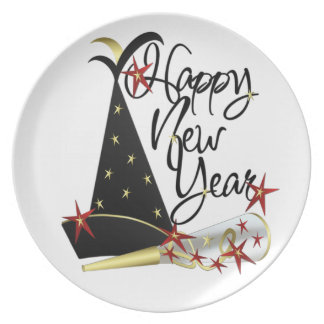 Happy New Year Celebration Pate Plate