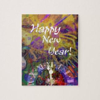 Happy New Year celebration. Puzzle