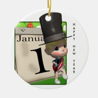 Happy New Year! Ceramic Ornament