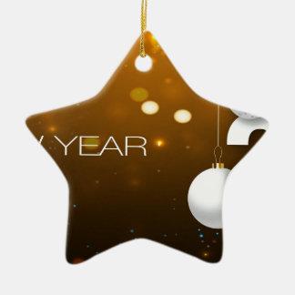 Happy-New-Year Ceramic Ornament
