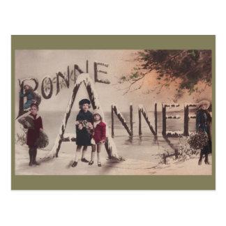Happy New Year Children Vintage Fantasy postcard