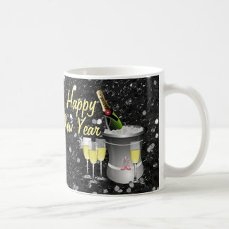 Happy New Year Chilled Champagne Coffee Mug