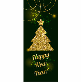 Happy New Year Christmas Green Holiday Standing Photo Sculpture