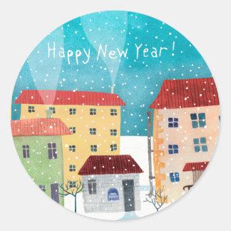 Happy New Year! Classic Round Sticker